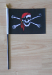 Pirate Red Bandana Hand Flag - Small.